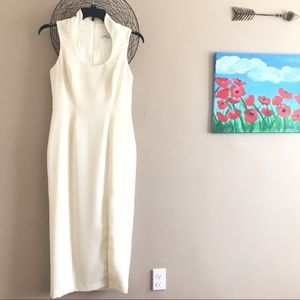 ABS Allen Schwartz Ivory Sheath Gown Size 8